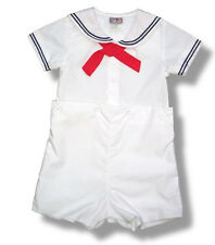 Petit Ami Sailor Suit Boys White Infant Toddler NWT Nautical