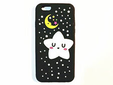Cute 3D Cartoon Glitter Star Moon Soft Silicone Case Cover Back Skin For Phones