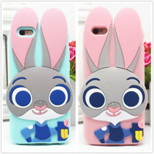 For iPhone/Samsung/Xiaomi New 3D Bunny Zootopia Judy Police Silicone Soft Case