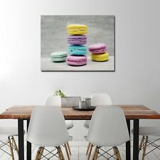 Macaroon Canvas Printing for Kitchen Dining Room Wall Art Decoration Food Poster