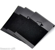 Wholesale Lots Black Ear Hooks Earring Plastic Display Cards 6.2x4.5cm