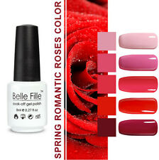 Belle Fille 8ml Nail Art Gel Polish Soak off UV LED Varnish Manicure DIY 5pcs