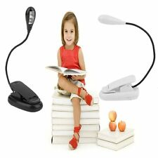 Lot USB Rechargeable Clip-On Desk Bedside Reading Book Lamp LED Light Dimmable B