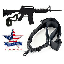 For AR-15 223 556, Rifle Single One Point Tactical Adjustable Gun Sling BLACK