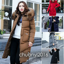 2018 Womens Fashion Winter Coat Jacket Fur Hooded Down coat Korea Parka