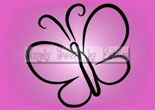 BUTTERFLY Vinyl Wall Saying Lettering Quote Art Decoration Decal Sign Craft