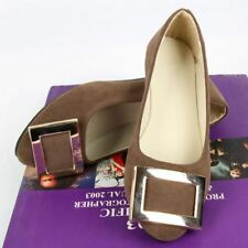 Women Flats Spring New Fashion Big Buckle Office Shoes Size 35-42