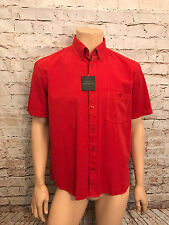 Oakman Short Sleeve Casual Shirt, Red, Med, Sulphur Dye, BNWT, New Design