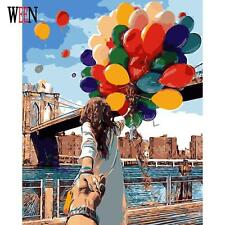 Romantic Oil Painting By Numbers On Canvas DIY Couple with balloons Handpainted