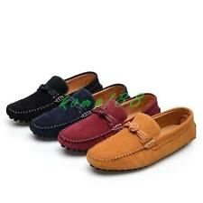 Mens Loafers faux Suede Slip On Casual Driving Moccasins gommino Flats Shoes