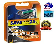 GILLETTE FUSION PROGLIDE POWER  BLADES  Made in GERMANY 8 & 16 & 24 & 32 40