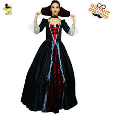 New Deluxe Gothic Sexy Vampire Women Costume withHooded Fancy Dress for Cosplay