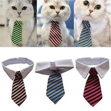 Dog Grooming Cat Striped Bow Tie Animal Striped Bowtie Collar Pet Adjustable Nec