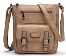 New Fashion Design Pu Leather Brown Color Shoulder Cross-body Bag for Women