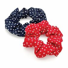 New Ladies Two Piece Lovely Polka Dot Elastic hair Scrunchie Accessories