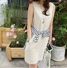 4 Color Casual Wear Summer New Fashion Sleeveless Plus Size Dress For Women