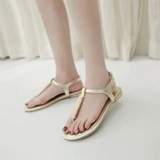 Women Pu Leather Summer Fashion Flat Sandal (Big Size 0-3cm)