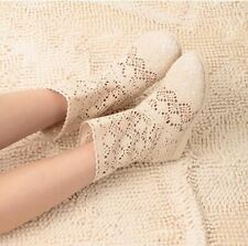 Women Solid Color Spring and Summer High-leg Hollow Ankle Flat Knitted Boots