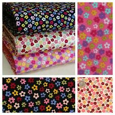 Small Funky Flower Fabric 100% Cotton Material.