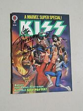 KISS SIGNED MARVEL 1978 GENE SIMMONS ACE FREHLEY PETER CRISS PAUL STANLEY -RARE