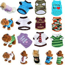 Pet Puppy Cotton Vest T Shirt Apparel Unisex Summer Dog Cat Various Pet Clothes