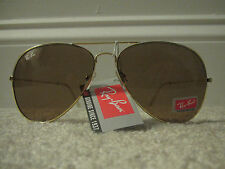 Ray Ban RB3025 Aviator Sunglasses Gold Frame Crystal Gold Mirror Brand New!!