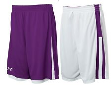 Under Armour Womens Undeniable Reversible Basketball Shorts  Purple / White