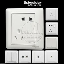 Schneider Electric White High-end Light Momentary Switch Socket Panel - Select