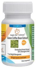 Green Coffee Bean Extract Capsules, 55% Chlorogenic Acid, Pure, high quality CGA
