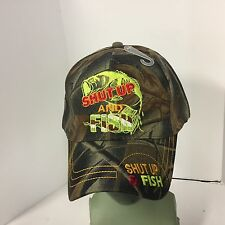 Baseball Cap SHUT UP AND FISH Official Licensed Hat New - FREE SHIPPING 935