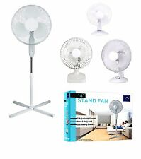 "6"" /12"" / 16"" PEDESTAL OSCILLATING STAND FAN DESK ELECTRIC TOWER STANDING HOME"