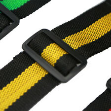 High Quality Soft Durable Nylon Guitar Strap PU Leather Ends Adjustable