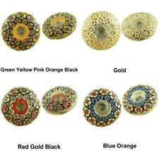 1pc Crystal Camomile Flower Garland Domed Handmade Czech Glass Buttons Size 10,