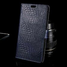 High Quality Crocodile Pattern PU Leather Wallet Case For Samsung Galaxy Phones
