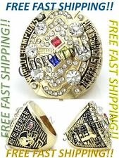 2008 Pittsburgh Steelers Championship Ring Roethlisberger MVP Ring Size 8 -14