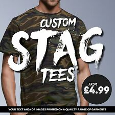 Custom Stag T-shirt Printing / Make your own / Free Custom Design!
