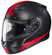 HJC Adult CL-17 Streamline Red/Black/White Full Face Motorcycle Helmet Snell DOT