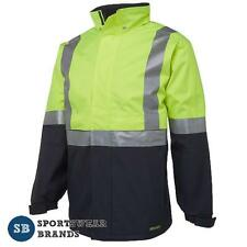 Hi Vis Day Night Jacket 3M Tape Waterproof Workwear Safety Size S-5XL 6DATJ