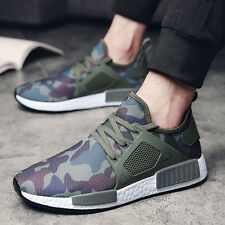 Mens Camo Sneakers Lace Up Spring Summer Autumn Army Green Shoes Casual Wear New