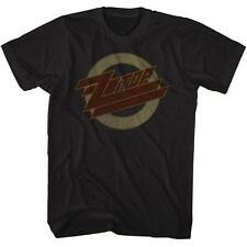 FADED LOGO ZZ Top Classic Rock Band Licensed Concert Tour Adult BLACK T-Shirt