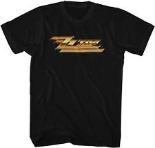 YELLOW LOGO ZZ Top Classic Rock Band Licensed Concert Tour Adult BLACK T-Shirt