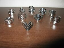 Beautiful Assorted Silver Adjustable Rings Size 5-8 You Choose NEW! #D556A-H