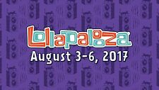 Lollapalooza Festival 2017 - Sunday Single Day Pass - General Admission