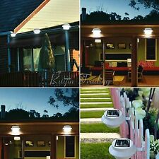 3 LED Solar Powered Outdoor Wall Fence Pathway Lamp Garden Yard Gutter Light