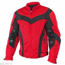 Xelement Men's 6019 Tri-Tex Nylon Red Level-3 Armored Motorcycle Jacket