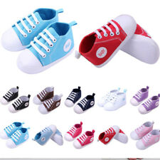 New Cute Boy Girl Baby Soft Sole Crib Shoes Infant Toddler Sneaker Newborn 0-18M