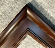 """4.75"""" WIDE Fancy Walnut Brown Liner Oil Painting Wood Picture Frame 20W"""