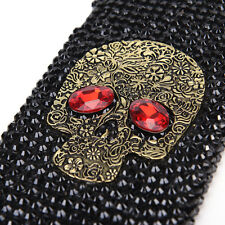 skull skeleton handmade bling rhinestone phone  case for iphone6/7 6/7 plus UK