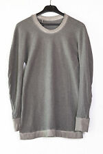 NWT BORIS BIDJAN SABERI RESIN DEYED KNIT GREY COTTON PULLOVER S, 629$