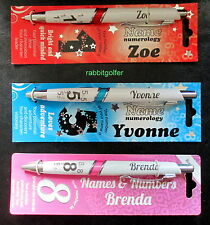 PERSONALIZED GIRLS NAMED PENS IDEAL INITIALS A to L